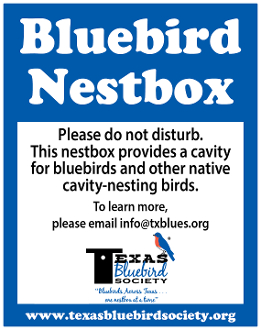 TBS Nestbox Sign - 4 pack